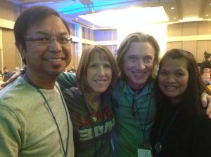 Rev. Danny Cortez, Linda Robertson, me & Mrs.Cortez