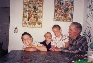 Jean M. Klein and my three oldest children