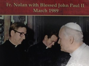 Fr. Joseph Aiden Nolan with Pope John Paul II